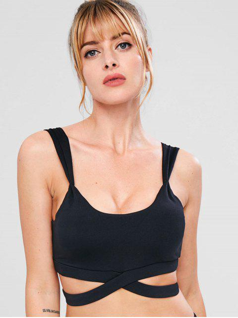 Sport Hollow Out Gym Yoga Bra - Negro L Mobile
