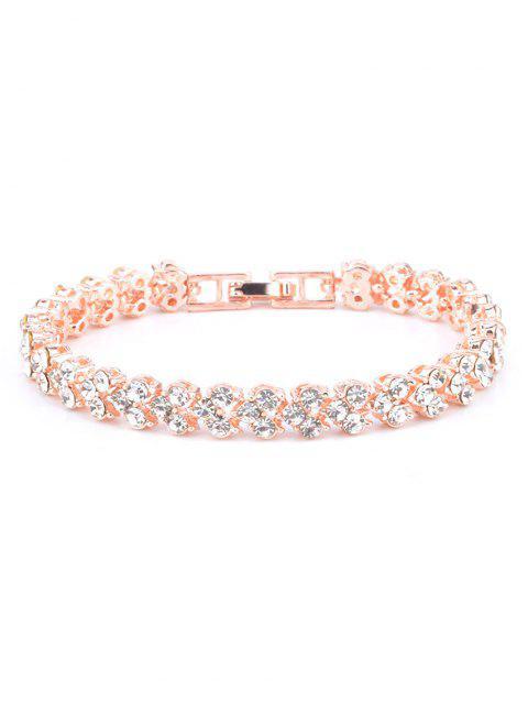 buy Multiple Rhinestone Alloy Bracelet - ROSE GOLD  Mobile