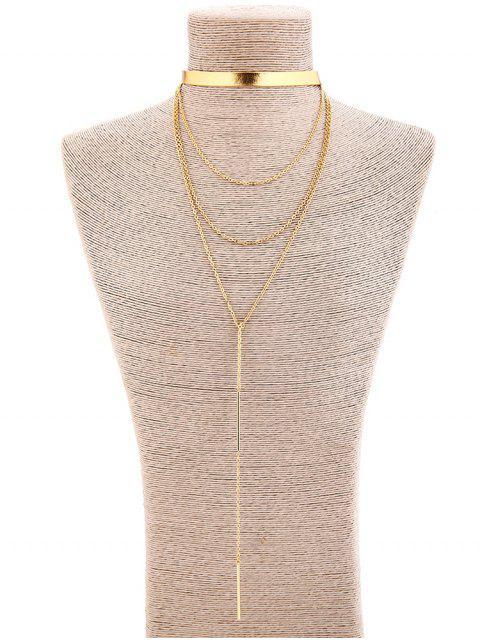 new Alloy Tassel Long Pendant Necklace - GOLD  Mobile