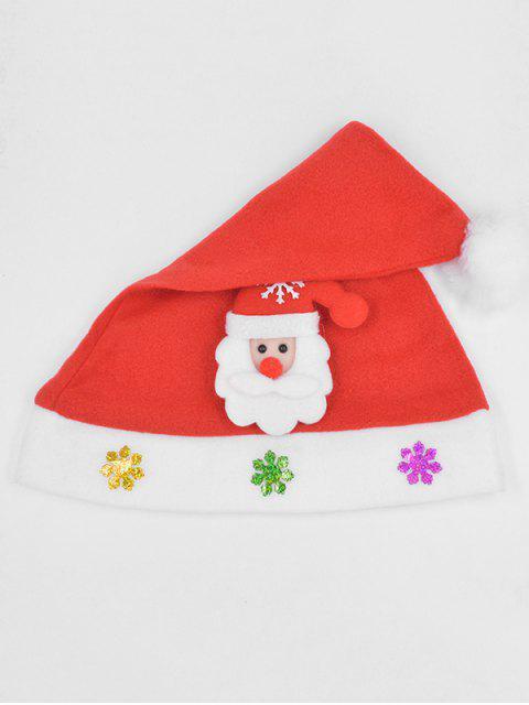 fashion Santa Claus Snowflake Party Hat - LAVA RED  Mobile