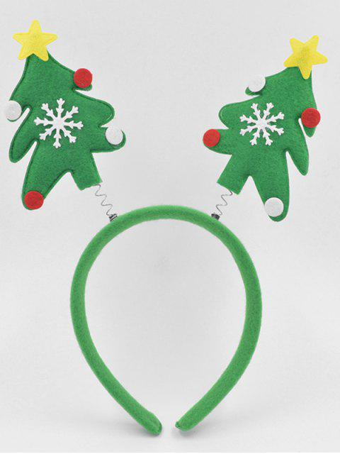 women's Christmas Tree Party Decoration Hair Hoop - GREEN  Mobile