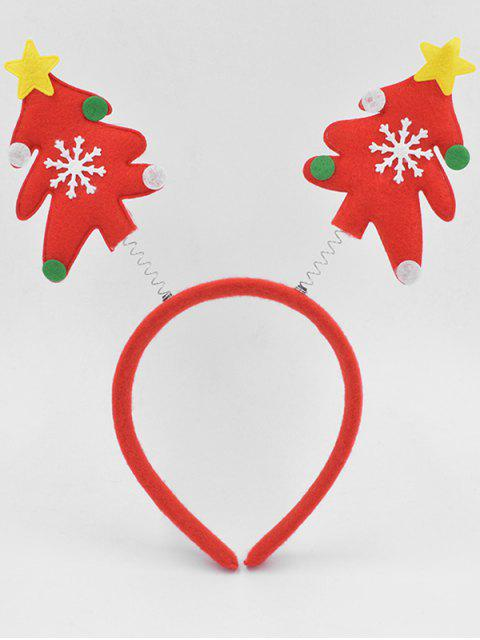 ladies Christmas Tree Party Decoration Hair Hoop - LAVA RED  Mobile