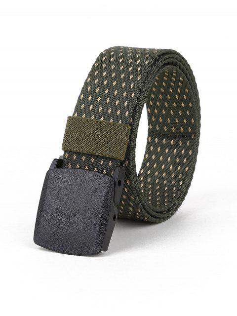 affordable Vintage Auto Buckle Adjustable Belt - ARMY GREEN  Mobile