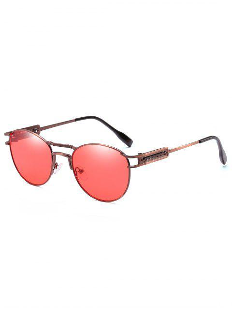 womens Crossbar Metal Frame Driving Sunglasses - WATERMELON PINK  Mobile
