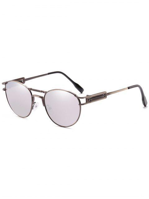 affordable Crossbar Metal Frame Driving Sunglasses - PLATINUM  Mobile