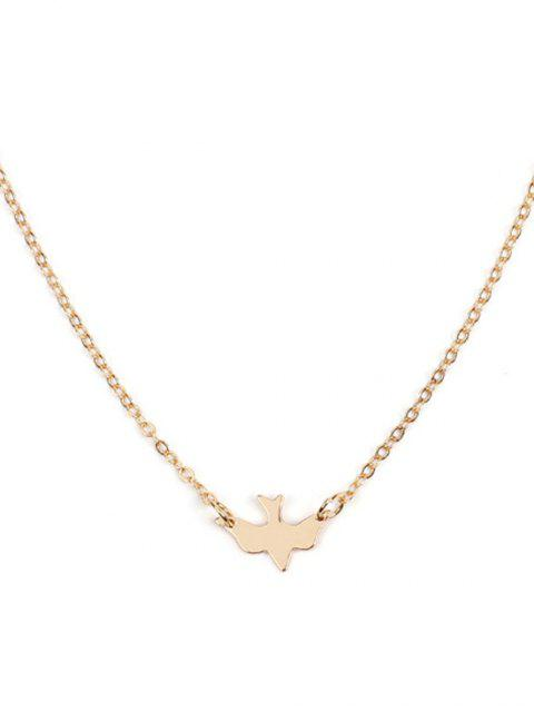 buy Dove Shape Chain Necklace - GOLD  Mobile