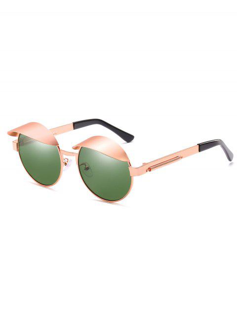 womens Anti Fatigue Eyebrow Oval Sunglasses - DARK GREEN  Mobile