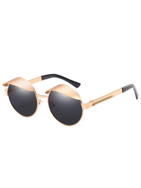women's Anti Fatigue Eyebrow Oval Sunglasses - BLACK EEL  Mobile