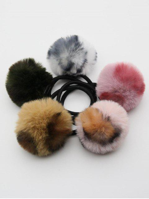 fancy Cute Pom Pom Ball Elastic Hairband - MULTI  Mobile