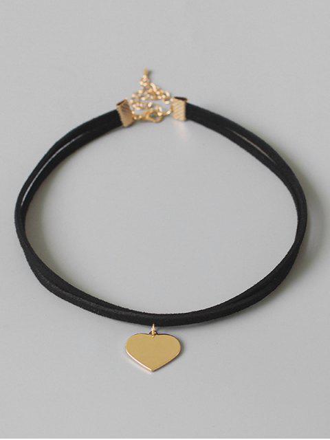 online Heart Shape Choker Necklace - BLACK  Mobile