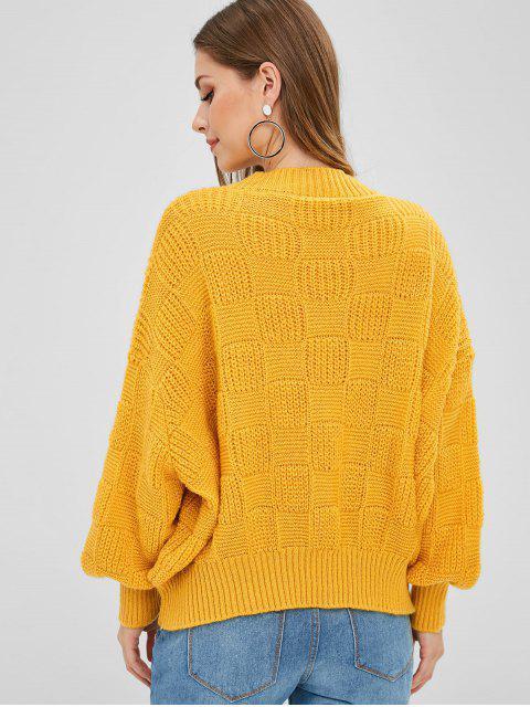 ランタンスリーブルーズフィットセーター - 明るい黄色 ワンサイズ Mobile
