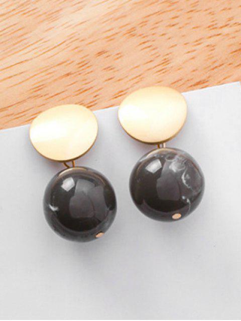 buy Geometric Design Stud Earrings - BLACK  Mobile