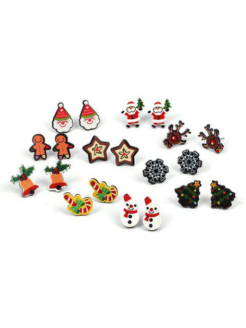 online Snowflake Christmas Tree Star Earrings - MULTI-A  Mobile