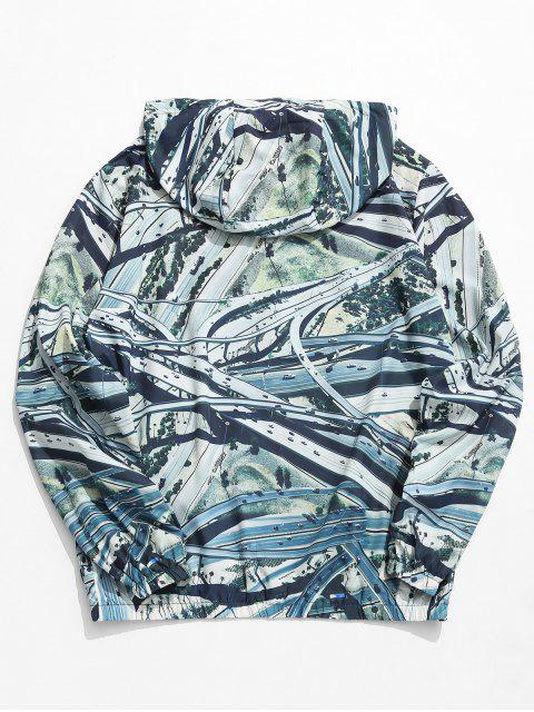 fashion Overpass Highway Print Lightweight Jacket - MULTI-A 2XL Mobile