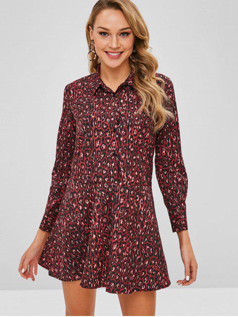 Robe chemise léopard - Multi L Mobile