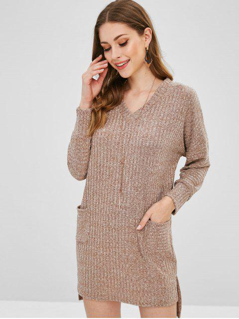 Robe en maille Heather Pocket Low Low - Marron Camel L Mobile