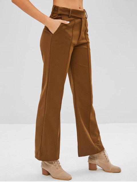 Pantalones gruesos de pierna ancha - Madera M Mobile