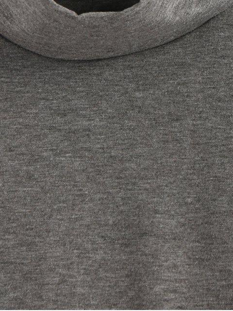 shops Long Sleeve Turtleneck Bodysuit - GRAY M Mobile