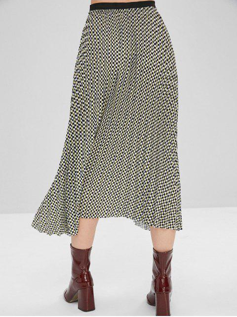 women Checkered Pleated Skirt - MULTI-A S Mobile
