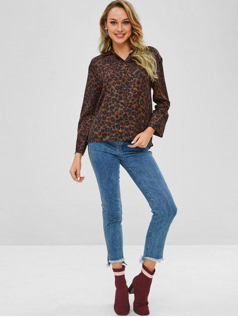 outfit Double Breasted Leopard Shirt - LEOPARD L Mobile