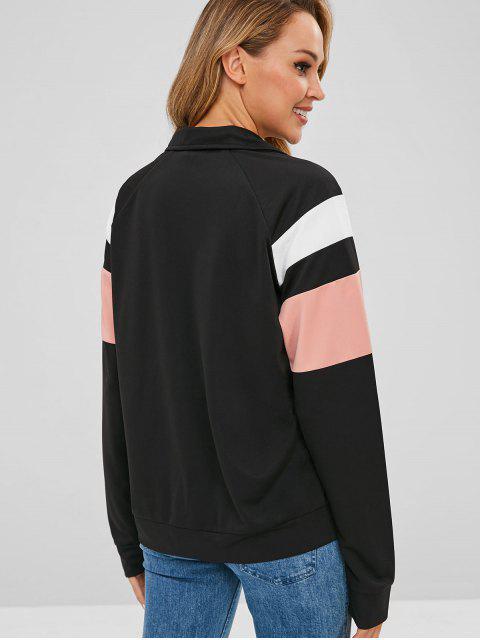Veste en Blocs de Couleurs - Noir M Mobile