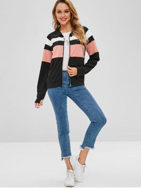 shops Color Block Jacket - BLACK M Mobile