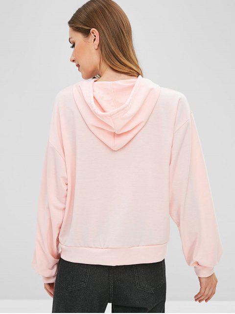 Sweat à capuche graphique Kangaroo Pocket Aliens - Cerisier Rose M Mobile
