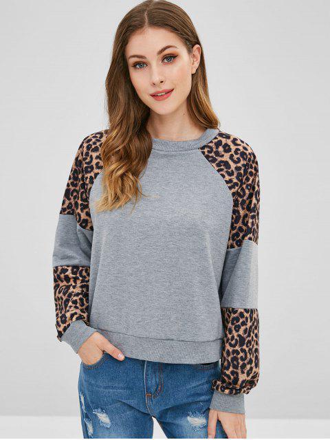 Sudadera Raglan Estampada Leopardo - Multicolor-A S Mobile