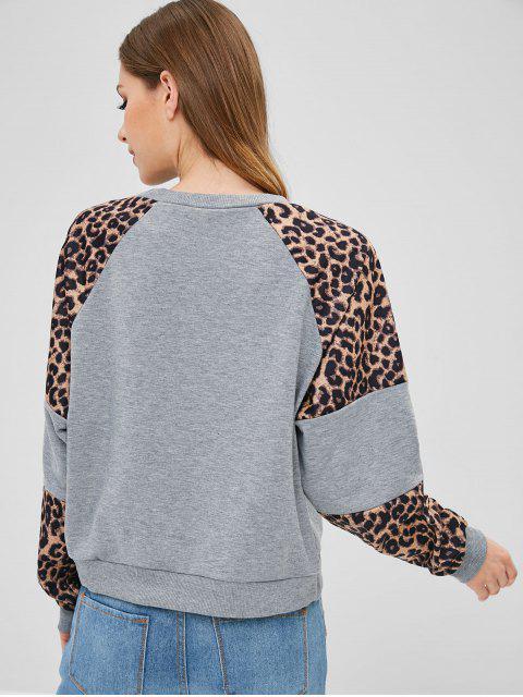Sweat à manches raglan à imprimé léopard - Multi-A S Mobile