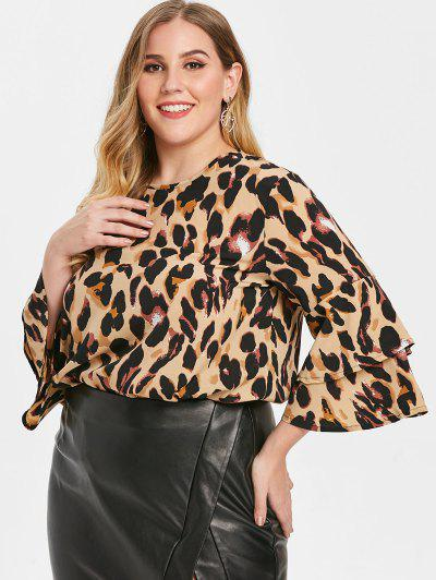 Blusa Talla Extra Estampado Leopardo - Leopardo 2x