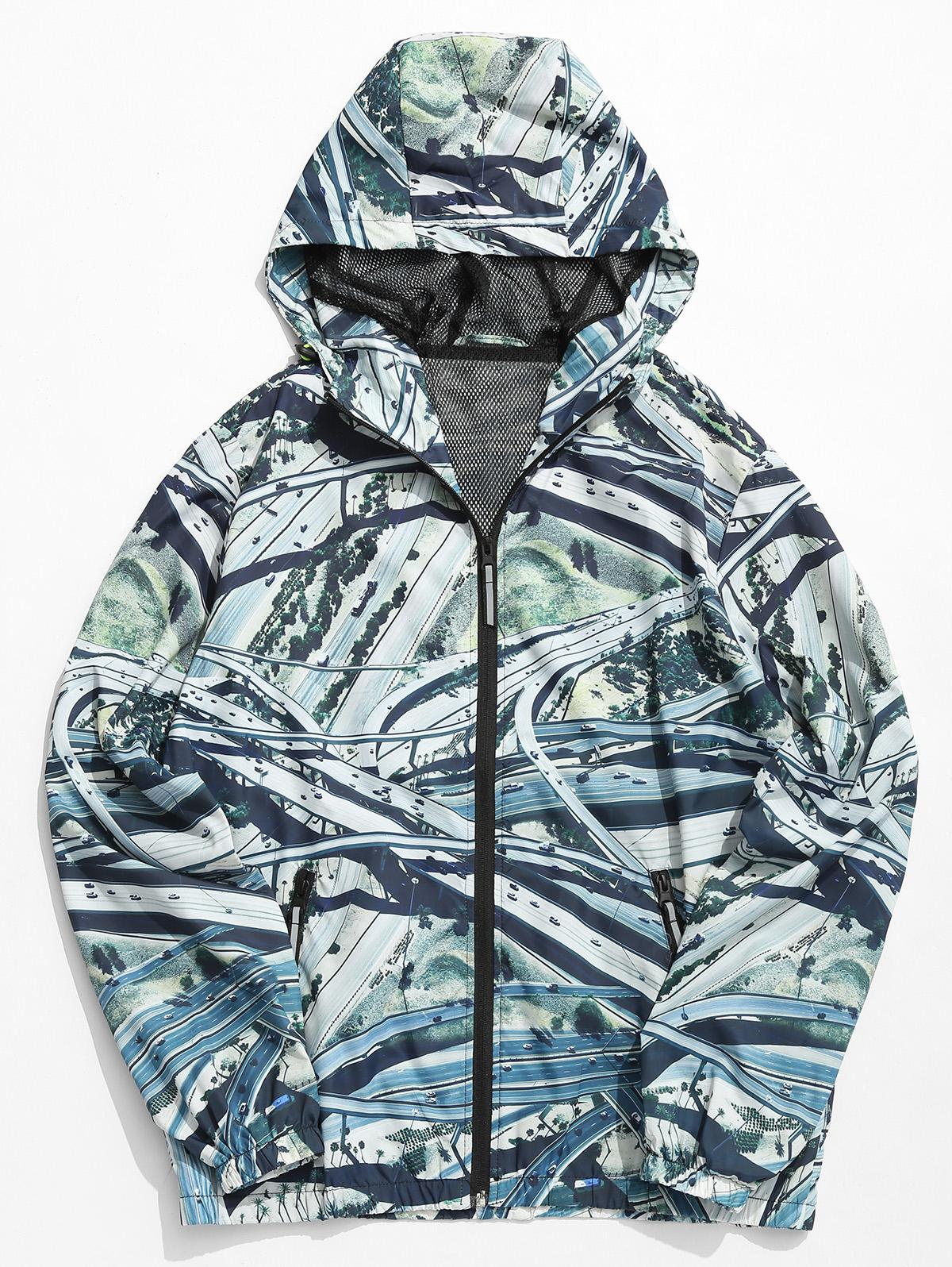Overpass Highway Print Lightweight Jacket