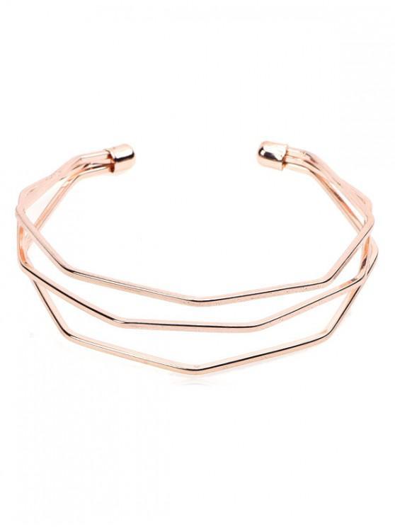 lady Geometric Hollow Out Design Wrap Bracelet - ROSE GOLD
