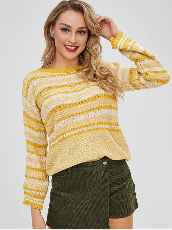 Suéter Tejido A Rayas Con Textura - Multicolor-A Talla única