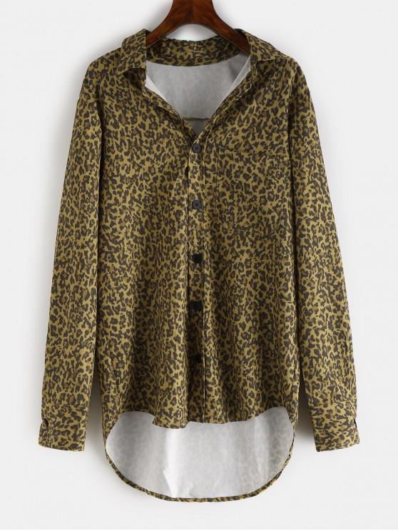 best Leopard High Low Shirt - LEOPARD M