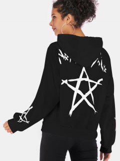 Star Graphic Hoodie - Black Xl