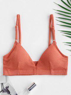 Ribbed Pullover Bra - Tangerine L