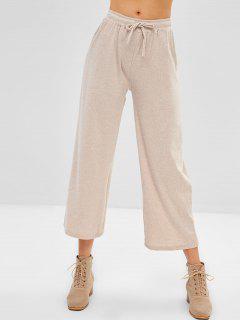Pantalones De Jersey De Cordón - Albaricoque