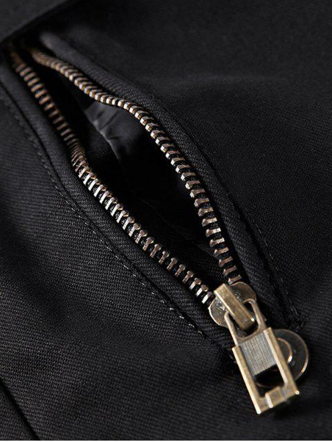 shops Faux Fur Lined Solid Pocket Jacket - BLACK S Mobile