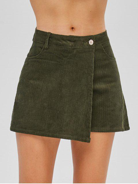 women's Corduroy Skorts - ARMY GREEN S Mobile