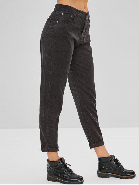 Pantalones De Pana Con Puño - Gris Pizarra Oscuro L Mobile