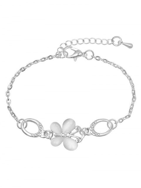 sale Rhinestoned Butterfly Design Chain Bracelet - SILVER  Mobile