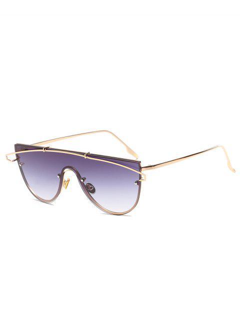 women's Metal Bar Oversized Sunglasses - CARBON GRAY  Mobile