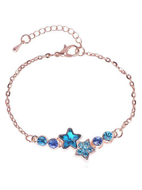 unique Rhinestoned Star Pattern Chain Bracelet - ROSE GOLD  Mobile