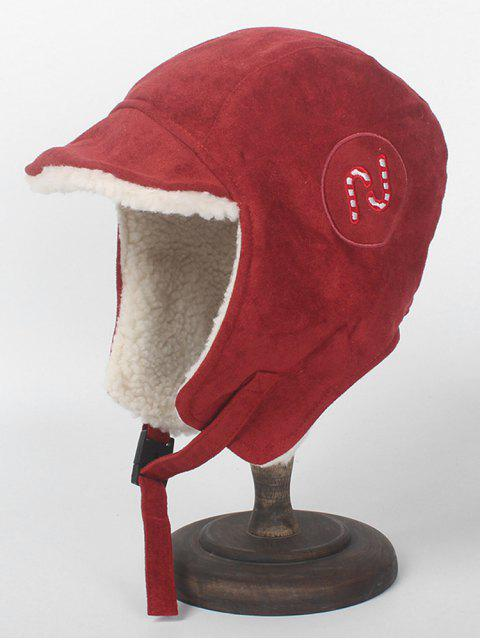 unique Christmas Cane Decorative Trapper Hat - CHESTNUT RED  Mobile