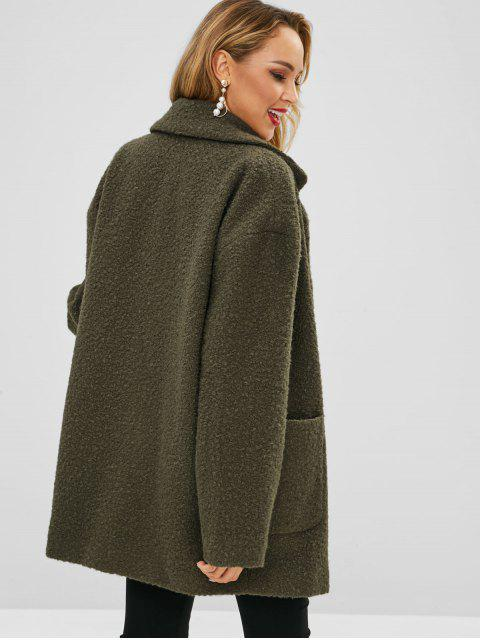 shops Lapel Wool Blend Peacoat - ARMY GREEN S Mobile