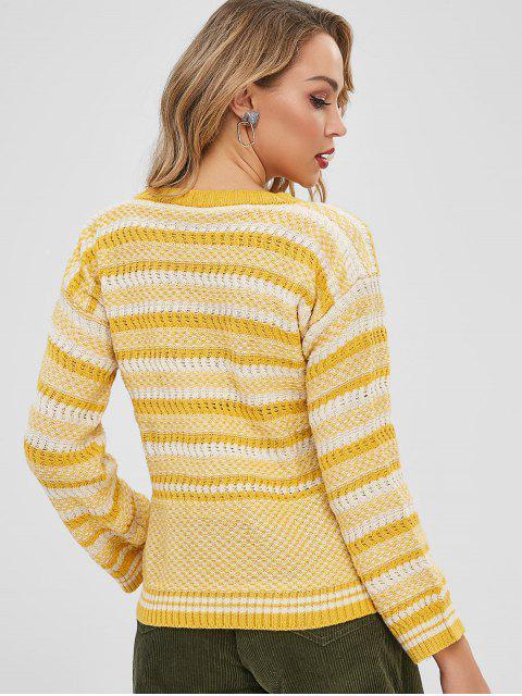 Pull Rayé Texturé en Tricot - Multi-A Taille Unique Mobile
