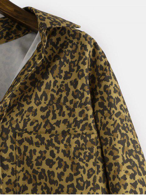 best Leopard High Low Shirt - LEOPARD M Mobile