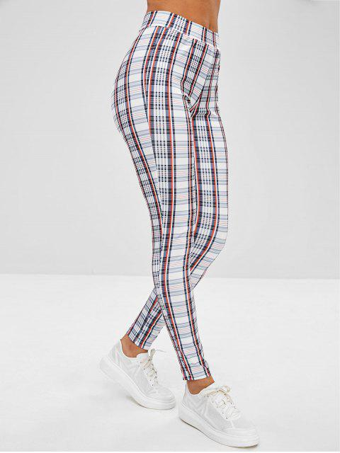 online Plaid Skinny Pants - MULTI XL Mobile