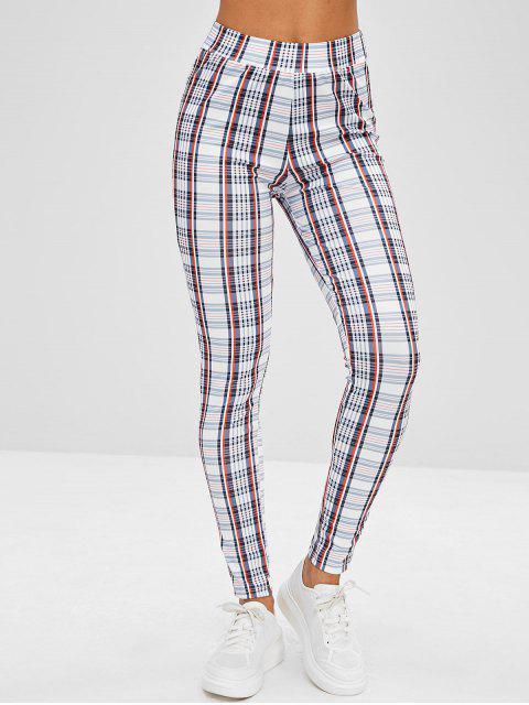 Pantalones pitillo a cuadros - Multicolor S Mobile