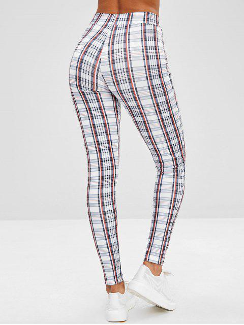 women's Plaid Skinny Pants - MULTI M Mobile